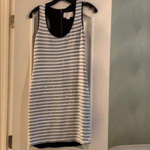 Nicole Miller black & white halter dress